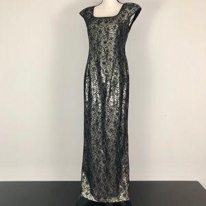 Alex Evenings Sequin Lace Cap Sleeve Dress
